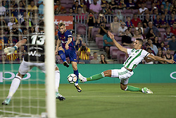 August 20, 2017 - Barcelona, Catalonia, Spain - Deulofeu during the spanish league match between the FC Barcelona and the Real Betis in the Camp Nou Stadium in Barcelona, Spain on August 20, 2017  (Credit Image: © Miquel Llop/NurPhoto via ZUMA Press)