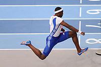 ATHLETICS - INDOOR EUROPEAN CHAMPIONSHIPS PARIS-BERCY 2011 - FRANCE - DAY 3 - 06/03/2011 - PHOTO : JULIEN CROSNIER / DPPI -<br /> MEN'S TRIPLE JUMP - FINALE - WINNER - WORLD RECORD - 17 M 92 - GOLD MEDAL - TEDDY TAMGHO (FRA)