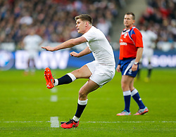 England Inside Centre Owen Farrell kicks a conversion - Mandatory byline: Rogan Thomson/JMP - 19/03/2016 - RUGBY UNION - Stade de France - Paris, France - France v England - RBS 6 Nations 2016.