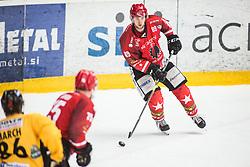 PRETNAR Luka during Alps Hockey League match between HC Pustertal and HDD SIJ Jesenice, on April 3, 2019 in Ice Arena Podmezakla, Jesenice, Slovenia. Photo by Peter Podobnik / Sportida