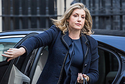 London, UK. 30th April 2019. Penny Mordaunt MP, Secretary of State for International Development, arrives at 10 Downing Street for a Cabinet meeting.