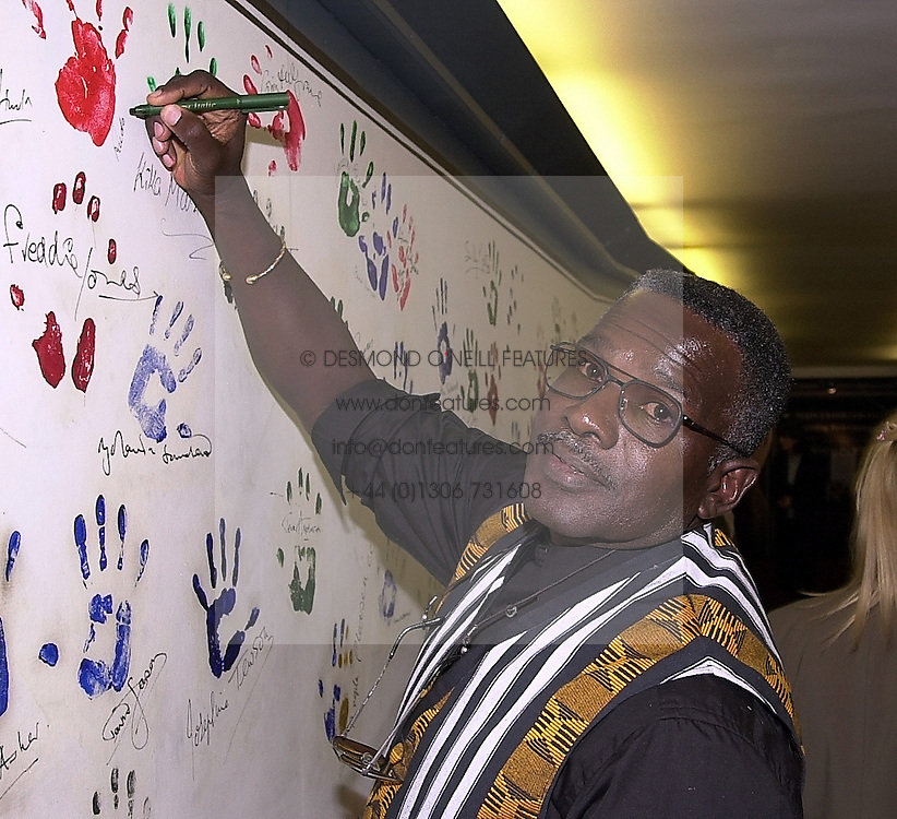 Actor RUDOLPH WALKER at a party in London on<br />  3rd April 2000.OCO 97