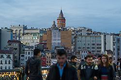 THEMENBILD - Galata Turm. Istanbul, früher Konstantinopel, ist die größte Stadt der Türkei. Sie liegt am Bosporus und liegt am Schnittpunkt von Asien und Europa. Aufgenommen am 06.03.2016 in Istanbul, Türkei // Galata Tower. Istanbul, former Constantinople, is the biggest City of Turkey. Turkey on 2016/03/06. EXPA Pictures © 2016, PhotoCredit: EXPA/ Michael Gruber