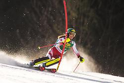 Katharina Liensberger (AUT) during the Ladies' Slalom at 56th Golden Fox event at Audi FIS Ski World Cup 2019/20, on February 16, 2020 in Podkoren, Kranjska Gora, Slovenia. Photo by Matic Ritonja / Sportida