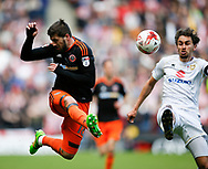 Kieron Freeman of Sheffield Utd in action during the English League One match at  Stadium MK, Milton Keynes. Picture date: April 22nd 2017. Pic credit should read: Simon Bellis/Sportimage