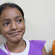 CAPTION: Nine-year-old Allison Barahona, who stays close to the Hospital in Tegucigalpa, underwent lip revision surgery in March 2014. She also has an oral-nasal fistula, which is due to be operated on soon. LOCATION: Hospital Escuela, Tegucigalpa, Honduras. INDIVIDUAL(S) PHOTOGRAPHED: Allison Barahona Martinez.