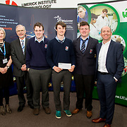 27.04.2016.          <br />  Kalin Foy and Ciara Coyle win SciFest@LIT<br /> Kalin Foy and Ciara Coyle from Colaiste Chiarain Croom to represent Limerick at Ireland's largest science competition.<br /> <br /> Crescent Comprehensive students, Pearse McMullen, Cian McDonnell, and Carl Karl Moloney Exocan project won Intermed/senior second prize.<br /> <br /> Of the over 110 projects exhibited at SciFest@LIT 2016, the top prize on the day went to Kalin Foy and Ciara Coyle from Colaiste Chiarain Croom for their project, 'To design and manufacture wireless trailer lights'. The runner-up prize went to a team from John the Baptist Community School, Hospital with their project on 'Educating the Youth of Ireland about Farm Safety'.Picture: Alan Place