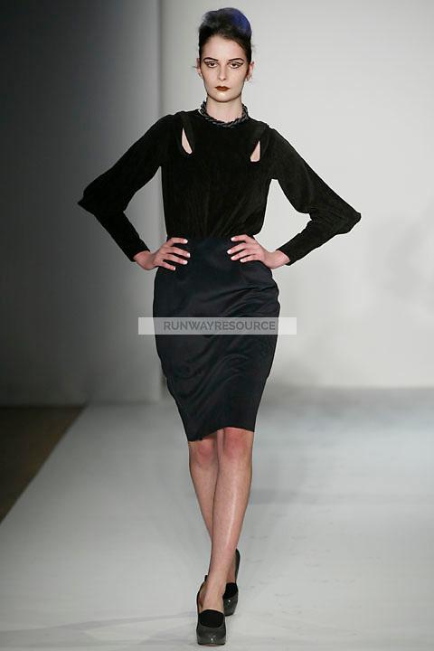 Suzie Bird walks the runway Costello Tagliapietra Fall 2009 collection