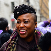 Shola Mos-Shogbamimu join March4Women 2020, on 8 March 2020, London, UK