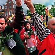 28-04-1999-Groningen, demonstratie van Koerden i.v.m. de dood van Ibrahim Alagoz.<br /> Foto: Sake Elzinga