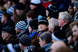 Exeter Chiefs fan watches the big screen - Mandatory by-line: Ryan Hiscott/JMP - 29/12/2019 - RUGBY - Sandy Park - Exeter, England - Exeter Chiefs v Saracens - Gallagher Premiership Rugby
