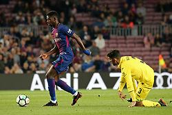 May 9, 2018 - Barcelona, Spain - Ousmane Dembele scores during the match between FC Barcelona and Villarreal CF, played at the Camp Nou Stadium on 09th May 2018 in Barcelona, Spain.  Photo: Joan Valls/Urbanandsport /NurPhoto. (Credit Image: © Joan Valls/NurPhoto via ZUMA Press)