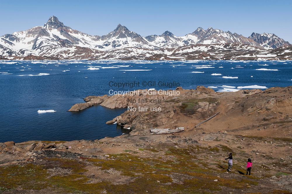Groenland, Sermersooq , bord du fjord à Tasilaq// Greenland, Sermersooq, fjord at Tasilaq