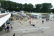 Amsterdam. NETHERLANDS.  General Views of crews rigging their boat after arriving at the venue, for the 2014 FISA  World Rowing. Championships.  De Bosbaan Rowing Course . 15:57:12  Wednesday  20/08/2014  [Mandatory Credit; Peter Spurrier/Intersport-images]