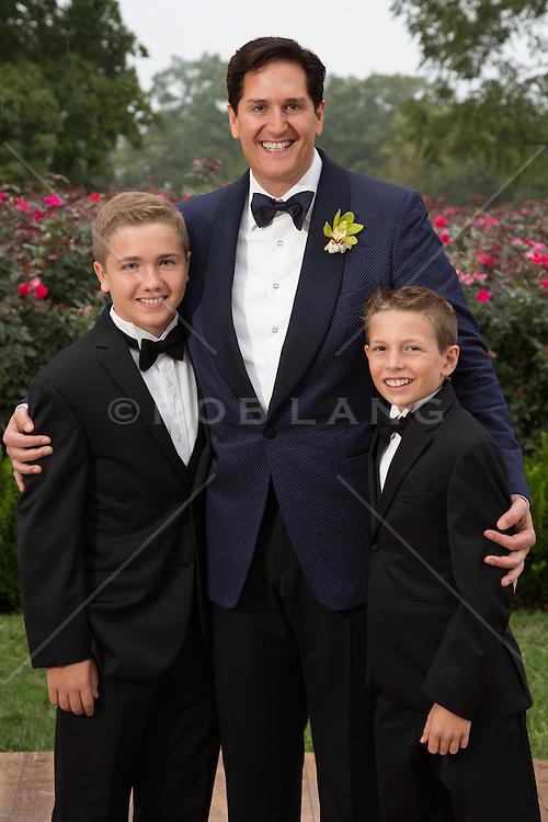 family portraits at a gay wedding