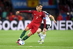 Cristiano Ronaldo of Portugal battles for the ball with Martin Hinteregger of Austria  - Mandatory by-line: Joe Meredith/JMP - 18/06/2016 - FOOTBALL - Parc des Princes - Paris, France - Portugal v Austria - UEFA European Championship Group F
