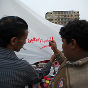 Egyptians protest at Tahrir Square during the second day of parliamentary elections.