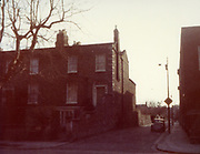 Old Dublin Amature Photos February 1984 WITH, Haddington Rd, Church, Smyths Pub, the cosey shop, Sean Murphys Pub, Market St, Rear of Fogertys Pub, the Shoe Hospital, Harmoney Rd, Grand Canal St, Old amateur photos of Dublin streets churches, cars, lanes, roads, shops schools, hospitals