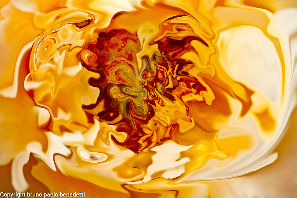 abstract orange fluid shades and red tones on orange background