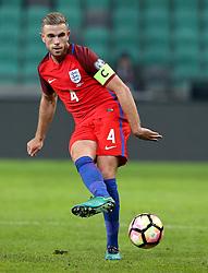 Jordan Henderson of England passes the ball - Mandatory by-line: Robbie Stephenson/JMP - 11/10/2016 - FOOTBALL - RSC Stozice - Ljubljana, England - Slovenia v England - World Cup European Qualifier