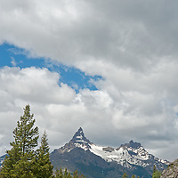 Pilot and Index Peaks dominant the headwaters of the Clark's Fork of the Yellowstone River, near Yellowstone in Wyoming.
