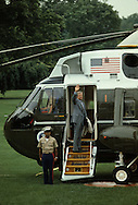 President Jimmy Carter waves from the steps of Marine One in June 1979<br /> <br /> Photograph by Dennis Brack<br /> bb45
