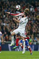 Real Madrid´s Daniel Carvajal and Atletico de Madrid´s Fernando Torres during Spanish King´s Cup match at Santiago Bernabeu stadium in Madrid, Spain. January 15, 2015. (ALTERPHOTOS/Victor Blanco)
