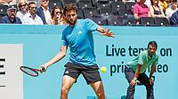 Tennis - 2019 Queen's Club Fever-Tree Championships - Day Six, Saturday<br /> <br /> Men's Singles, Semi Final: Daniil Medvedev (RUS) Vs. Gilles Simon (FRA) <br /> <br /> Gilles Simon (FRA) in action on Centre Court.<br />  <br /> COLORSPORT/DANIEL BEARHAM