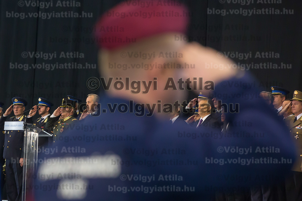 Viktor Orban prime minister of Hungary attends the ceremony where police officers who applied for the border hunter service take their oath in Budapest, Hungary on January 12, 2017. ATTILA VOLGYI