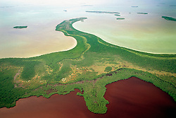 The Lung ( blackwater lake ) and Mosquito Point, Everglades National Park, Florida Bay, Florida, Gulf of Mexico, USA