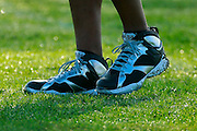 January 30 2016: Oakland Raiders Charles Woodson Cleats at the Pro Bowl practice at Turtle Bay Resort on Oahu, HI. (Photo by Aric Becker/Icon Sportswire)