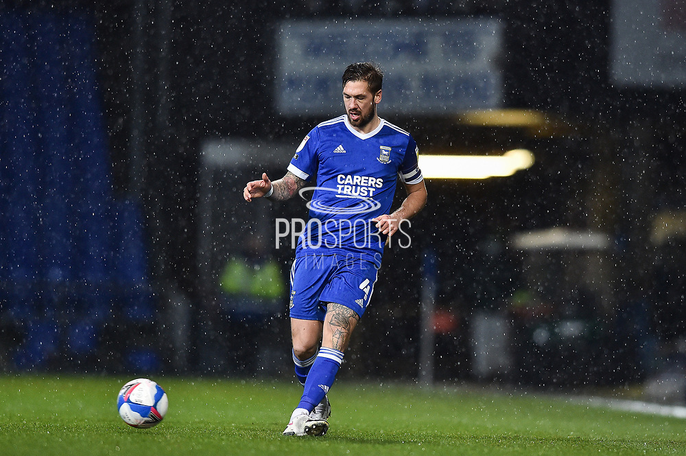 Ipswich Town defender Luke Chambers (4) with the ball during the EFL Sky Bet League 1 match between Ipswich Town and Sunderland at Portman Road, Ipswich, England on 26 January 2021.