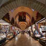 Ataturk portrait in Egyptian Spice market, Istanbul, Turkey