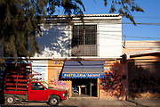Street scene in Oaxaca city. This region in southern Mexico is known for its artisan communities, with each valley having a different specialism - weaving, pottery, wood carving.