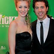 NLD/Scheveningen/20111106 - Premiere musical Wicked, Noortje Herlaar en partner William Spaaij