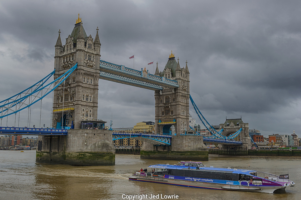 The Tower Bridge is very picturesque. I got this image on an overcast day with a tour boat perfectly situated in the foreground. I particularly like the composition of this photo.