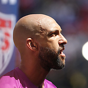 Goalkeeper Tim Howard, USA, during the US Men's National Team Vs Turkey friendly match at Red Bull Arena.  The game was part of the USA teams three-game send-off series in preparation for the 2014 FIFA World Cup in Brazil. Red Bull Arena, Harrison, New Jersey. USA. 1st June 2014. Photo Tim Clayton