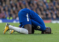 Football - 2017 / 2018 Premier League - Chelsea vs Manchester City<br /> <br /> Tiemoue Bakayoko (Chelsea FC)  shows the pain after being fouled at Stamford Bridge <br /> <br /> COLORSPORT/DANIEL BEARHAM