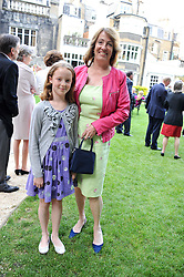 LADY ALEXANDRA ETHERINGTON and her daughter AMELIA ETHERINGTON at a reception hosted by the Friends of the Castle of Mey held at the Goring Hotel, Beeston Place, London on 22nd May 2012.