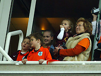 Photo: Chris Ratcliffe.<br />Arsenal v West Bromwich Albion. The Barclays Premiership. 15/04/2006.<br />Dennis Bergkamp's family all watch on from a box as he scores the third Arsenal goal on 'Dennis Bergkamp Day' at Highbury.