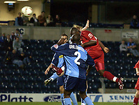 Picture: Henry Browne.Digitalsport<br /> Date: 24/08/2004.<br /> Wycombe Wanderers v Bristol City Carling Cup First Round.<br /> <br /> Leroy Lita heads home the winning goal for City.