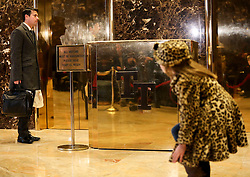 The lobby of the Trump Tower, while President elect Donald Trump is holding meetings on top floors of the building, November 21, 2016, in New York, NY. (Aude Guerrucci / Pool)