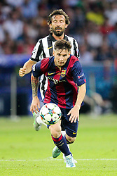 06-06-2015 GER: UEFA Champions League final Juventus - Barcelona, Berlin<br /> Lionel Messi #10 (FC Barcelona), dahinter Andrea Pirlo #21 (Juventus Turin)  during the UEFA Champions League final match between Juventus FC and Barcelona FC at the Olympia Stadion in Berlin<br /> <br /> ***NETHERLANDS ONLY***