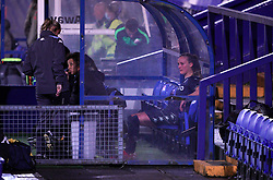 Aston Villa's Marisa Ewers sits in the dug out after being substituted during the FA Women's League Cup Group A match at Prenton Park, Birkenhead. Picture date: Wednesday October 13, 2021.