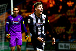 Harry Clifton of Grimsby Town shouts to the linesman - Mandatory by-line: Ryan Crockett/JMP - 04/01/2020 - FOOTBALL - One Call Stadium - Mansfield, England - Mansfield Town v Grimsby Town - Sky Bet League Two