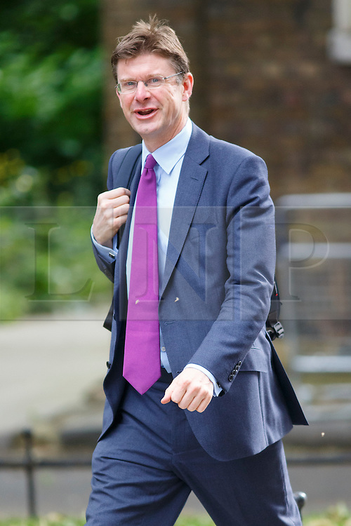 © Licensed to London News Pictures. 09/06/2015. Westminster, UK. Communities and Local Government Secretary GREG CLARKE attending to a cabinet meeting in Downing Street on Tuesday, 9 June 2015. Photo credit: Tolga Akmen/LNP