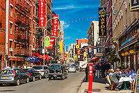 Mulberry Street, Little Italy, New York, New York USA.