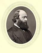 Robert Arthur Talbot Gascoyne Cecil, 3rd Marquis of Salisbury (1830-1903) British Conservative statesman. Prime Minister 1885, 1886, 1895-1902, at the time he was Secretary of State for India. From 'Men of Mark', London, 1877.