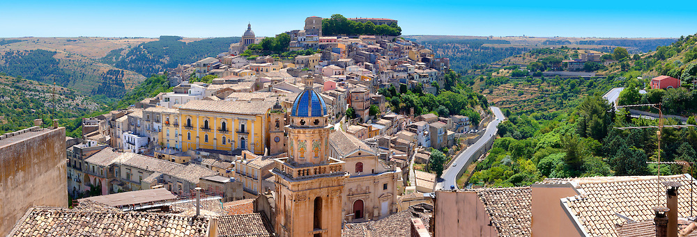Santa Maria delli'Idria in the foreground and  Ragusa Ibla Sicily behind .<br /> <br /> Visit our SICILY HISTORIC PLACES PHOTO COLLECTIONS for more   photos  to download or buy as prints https://funkystock.photoshelter.com/gallery-collection/2b-Pictures-Images-of-Sicily-Photos-of-Sicilian-Historic-Landmark-Sites/C0000qAkj8TXCzro