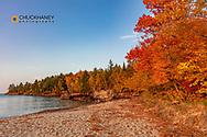 Fall Color along at Au Train Bay and Lake Superior near Munising, Michigan, USA